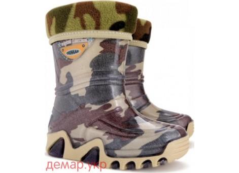 Детские резиновые сапоги - DEMAR STORMIC LUX PRINT-e 0029, Военные