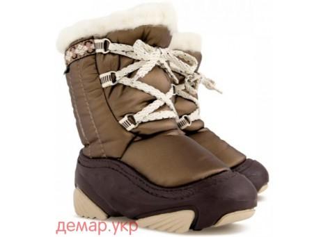 Детские дутики, сноубутсы - Demar JOY 4019-A, коричневые