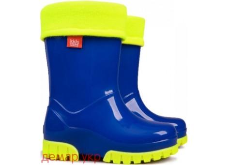 Детские резиновые сапоги - DEMAR TWISTER FLUO-a 0034, Синие