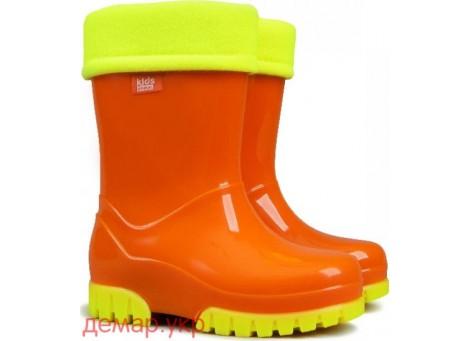 Детские резиновые сапоги - DEMAR TWISTER FLUO-c 0035, Оранжевые