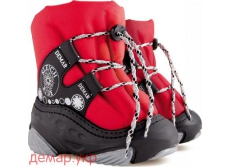 Детские дутики, сноубутсы - Demar SNOW RIDE 4016-C, красные