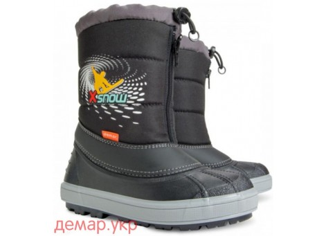 Детские дутики, сноубутсы - Demar X-SNOW 1503-C, черные