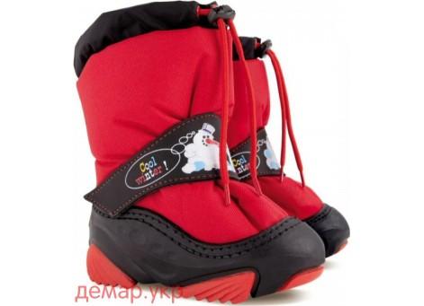 Детские дутики, сноубутсы - Demar SNOWMEN 4010-A, красные