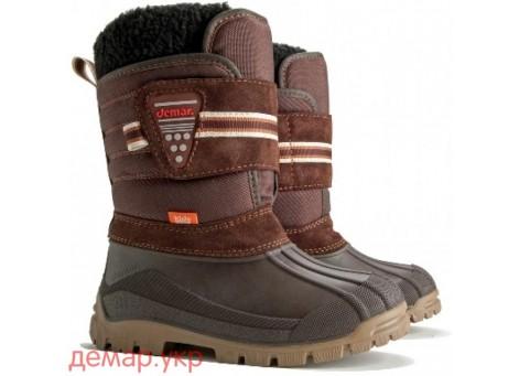 Детские дутики, сноубутсы - Demar ARCTICA 1306, коричневые