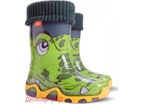 Детские резиновые сапоги - DEMAR STORMER LUX PRINT-b 0033, Крокодилы