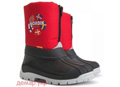 Детские дутики, сноубутсы - DEMAR NEW NORDIC - c 1312, красные
