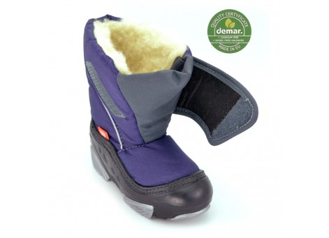 Детские дутики, сноубутсы - Demar DOGGY 4021-B, фиолетовые