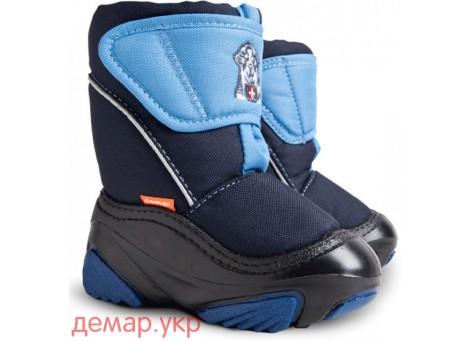 Детские дутики, сноубутсы - Demar DOGGY 4021-D, синие