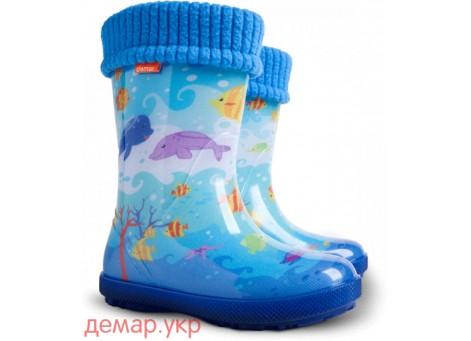 Детские резиновые сапоги - DEMAR HAWAI LUX EXCLUSIVE -eg 0448, Океан