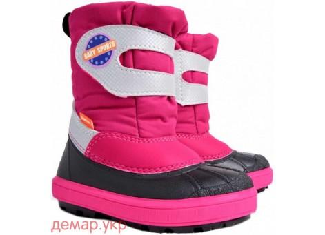 Детские дутики, сноубутсы - DEMAR BABY SPORTS 1506-A, розовые