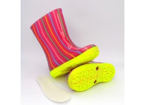 Детские резиновые сапоги - DEMAR HAWAI LUX PRINT-ag 0047, Цветная полоска