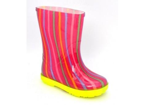 Детские резиновые сапоги - DEMAR HAWAI LUX PRINT-ag 0046, Цветная полоска