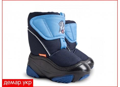 Детские дутики, сноубутсы - Demar DOGGY2 4021-ND, синие