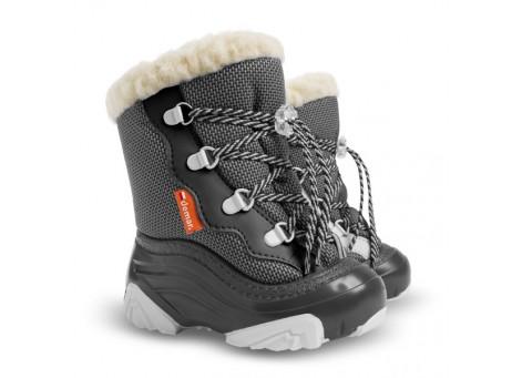 Детские дутики, сноубутсы - Demar SNOW MAR2 4017-ND, серые