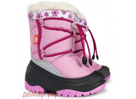 Детские дутики, сноубутсы - Demar FUZZY 4030-B, розовые