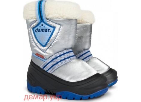 Детские дутики, сноубутсы - Demar TOBY 4031-A, синие