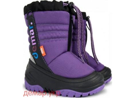 Детские дутики, сноубутсы - Demar TEDDY 4032-A, фиолетовые
