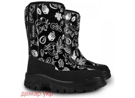 Детские дутики, сноубутсы - Demar HANNU 1601-F, черные