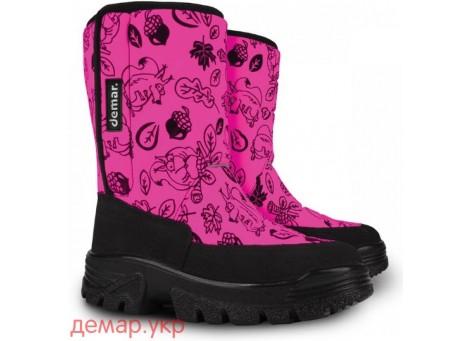 Детские дутики, сноубутсы - Demar HANNU 1601-G, розовые