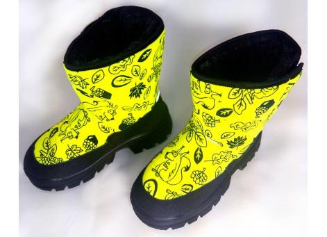 Детские дутики, сноубутсы - Demar HANNU-M 1631-E, желтые